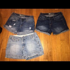 Old Navy Jean Shorts Lot 3 Pairs